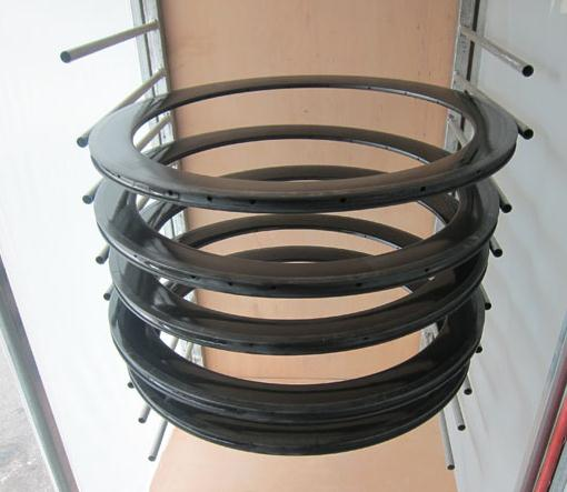 Custom Made 700c Carbon Track Bike Wheels Front Rear New Basalt Surface Clincher 23 Width