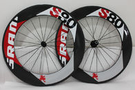 China Custom Road Bike Front Wheel , Carbon Rear Wheel 700c 20 / 24 Spokes S80 Clincher company