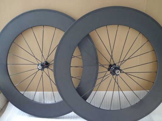 Lightweight Tubeless 88mm Carbon Clincher Wheelset 700c Synergy Road Clincher 3k Matt