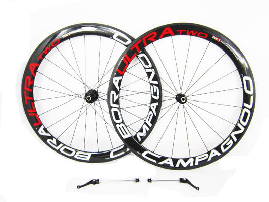 50mm Carbon Road Bike Wheelset , Ultralight Tubular Aero Road Bike Wheels 505 High Strength